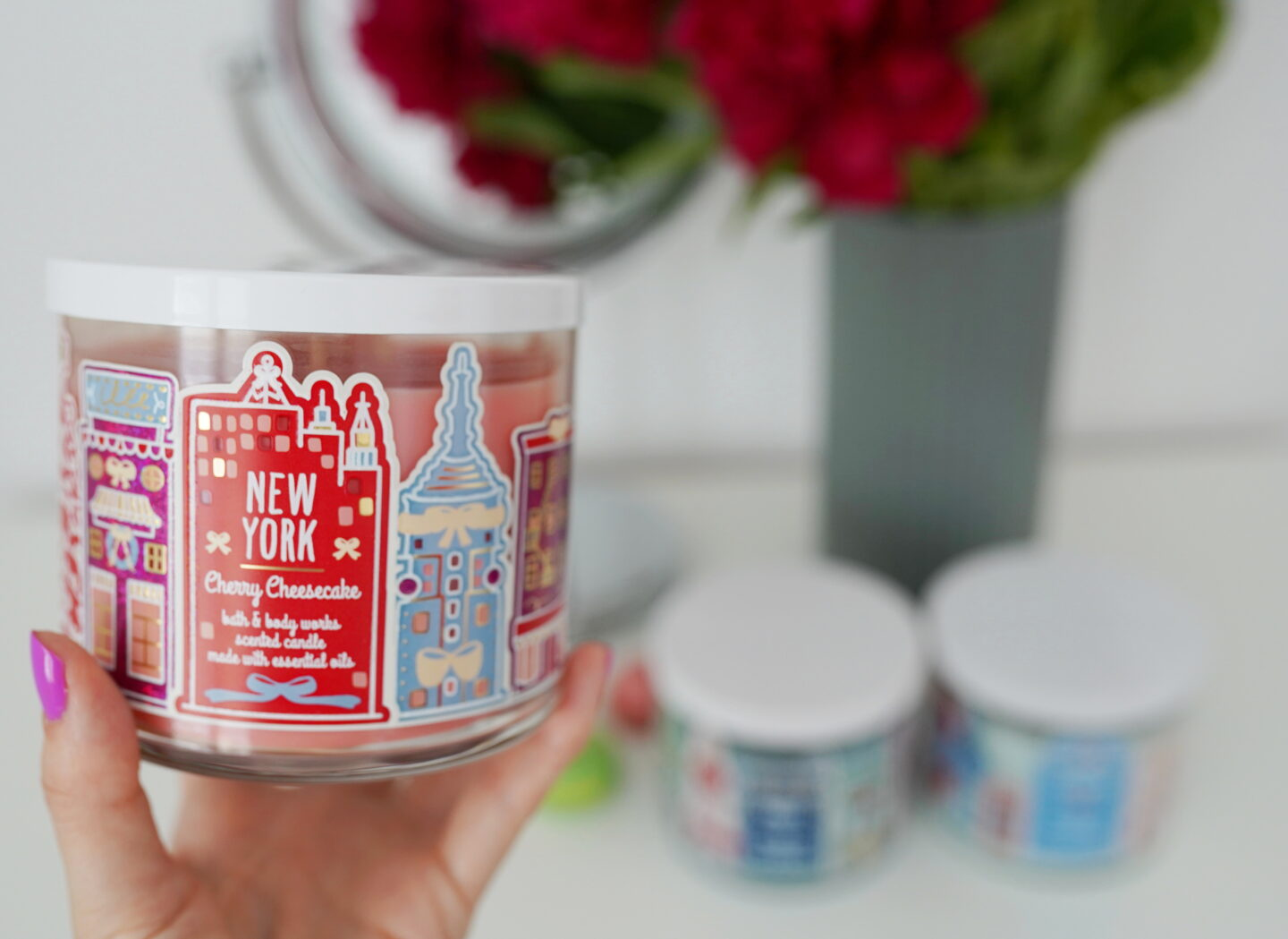 Sviečka Bath and Body Works Cherry Cheesecake NEW YORK