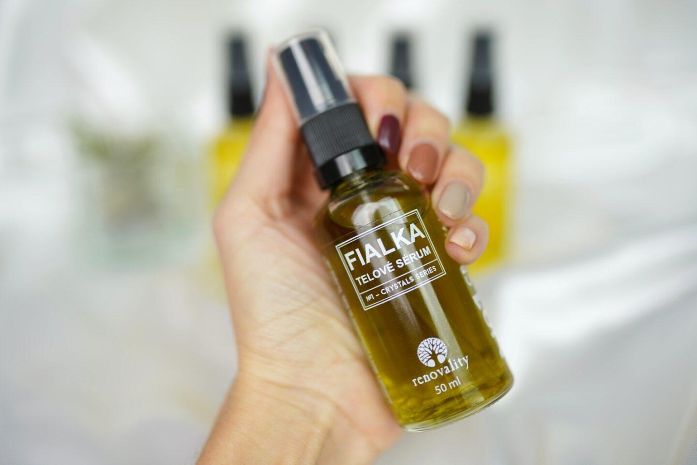 Telový olej Crystal Fialka