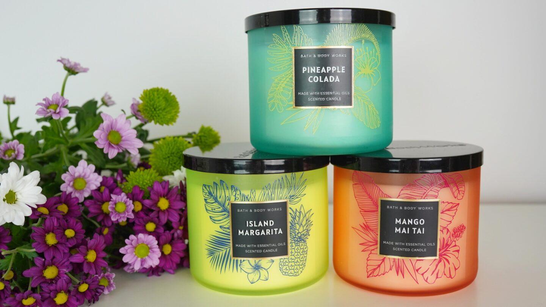 sviečky s tropickou vôňou